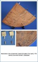 Restoration of an early 17th century boxwood Gunter's Quadrant.