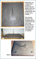 Restoration of a multiple slate sundial by Richard Melville.