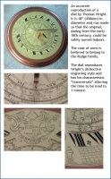 An accurate  reproduction of a  dial by Thomas Wright.