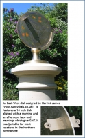 An East-West dial designed by Harriet James.