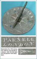 Restoration of a 19th century dial made for the latitude of Jamaica.