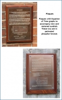 Plaques with Equation of Time graphs to accompany new and restored sundials.