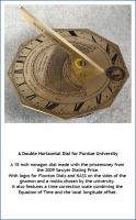 A Double Horizontal Dial for Purdue University.